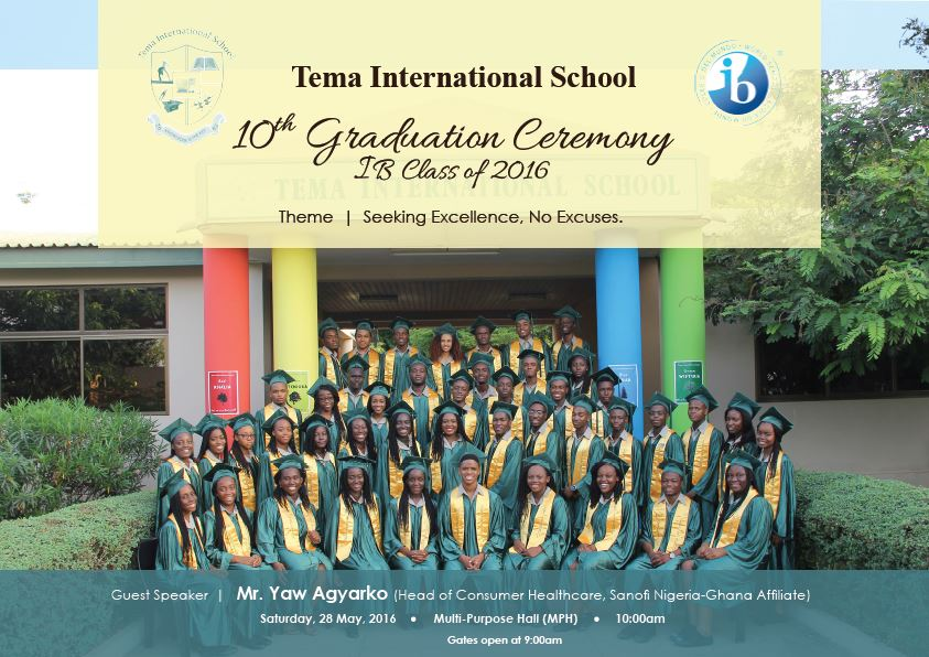 TIS 10th Annual Graduation Ceremony Speech » Tema International School